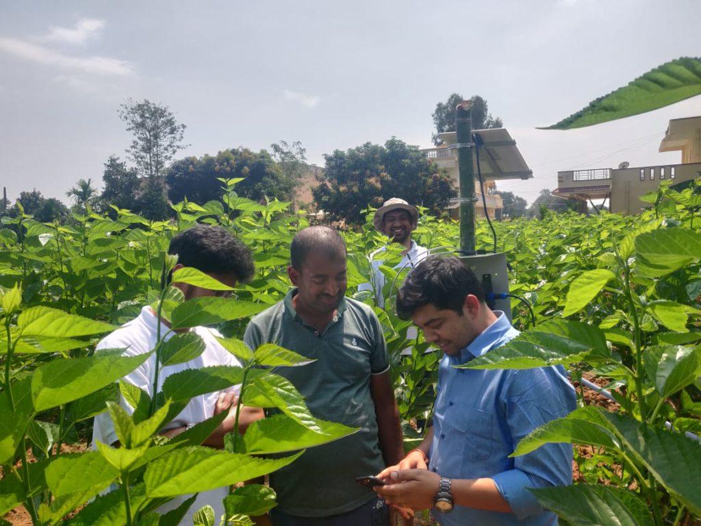 ReshaMandi CEO Mayank Tiwari in Mulberry farm